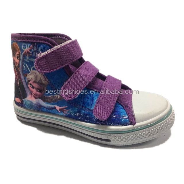 Cheap Model Girls High Top Canvas Shoes Wholesale In China Shoe Factory