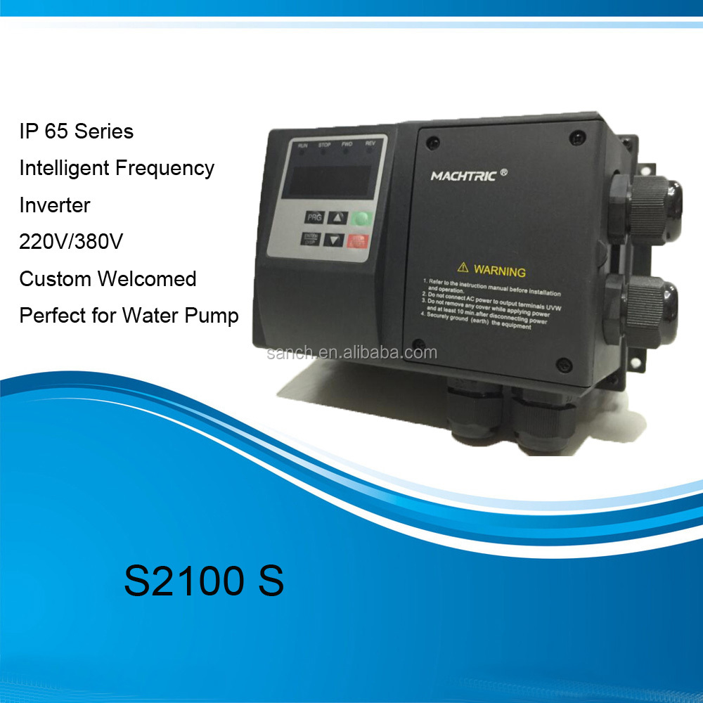 AC Water Pump Inverter Waterproof IP65 Variable Speed Drive For Motor