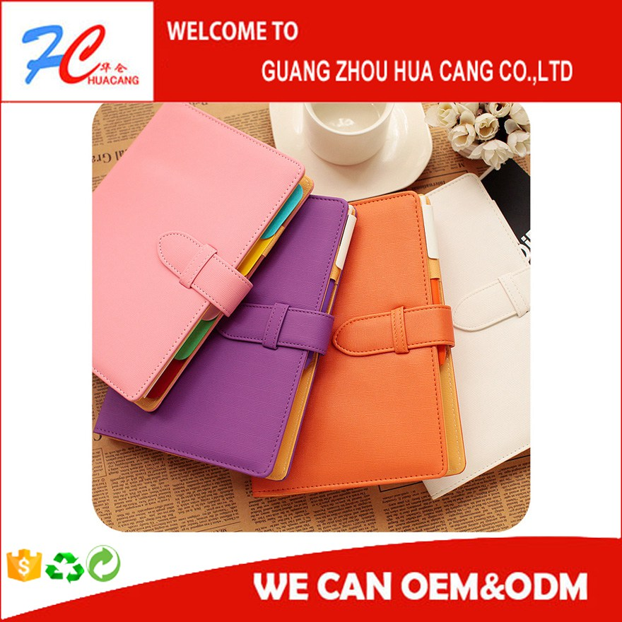 Pu Leather Cover Custom Notebook Notebook And Customized Agenda/Personalized Diary Manufacturer