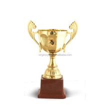 Metal gold plated award promotional trophy for sports souvenirs