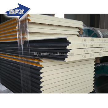 Qingdao Thermal Insulation Cold Room Using Polyurethane Sandwich Roof Panels PU Panel Sandwich