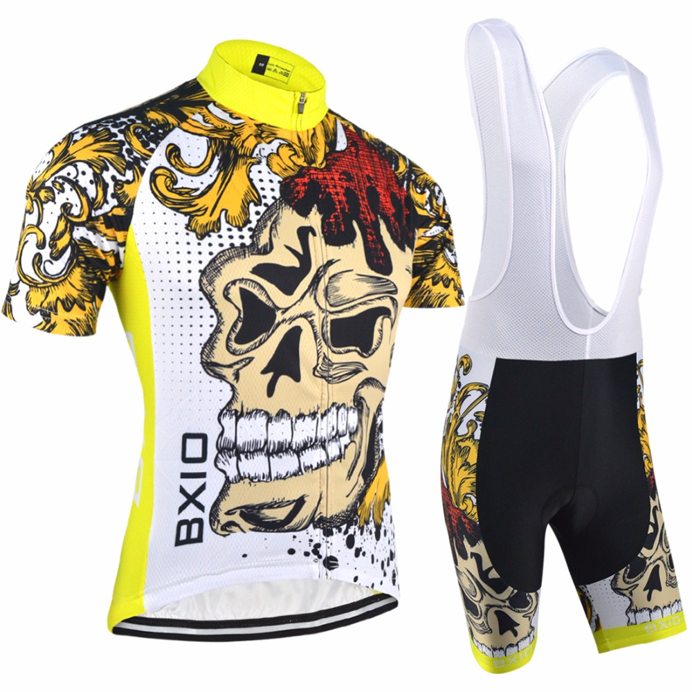 BXIO Cycling Sets Bike Clothing Sets Cool Short Sleeve Mountain Bike Clothes Ropa Ciclismo BX-0209F074