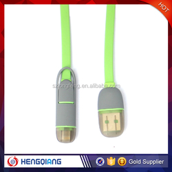 Brand New Lighting Charger Cable 2 in 1Data Cable for iphone/for samsung