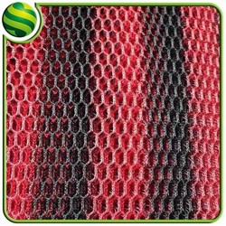 breathable mesh fabric motorcycle ,in-stock 3d cool air mesh fabric hexagonal mesh fabric supply