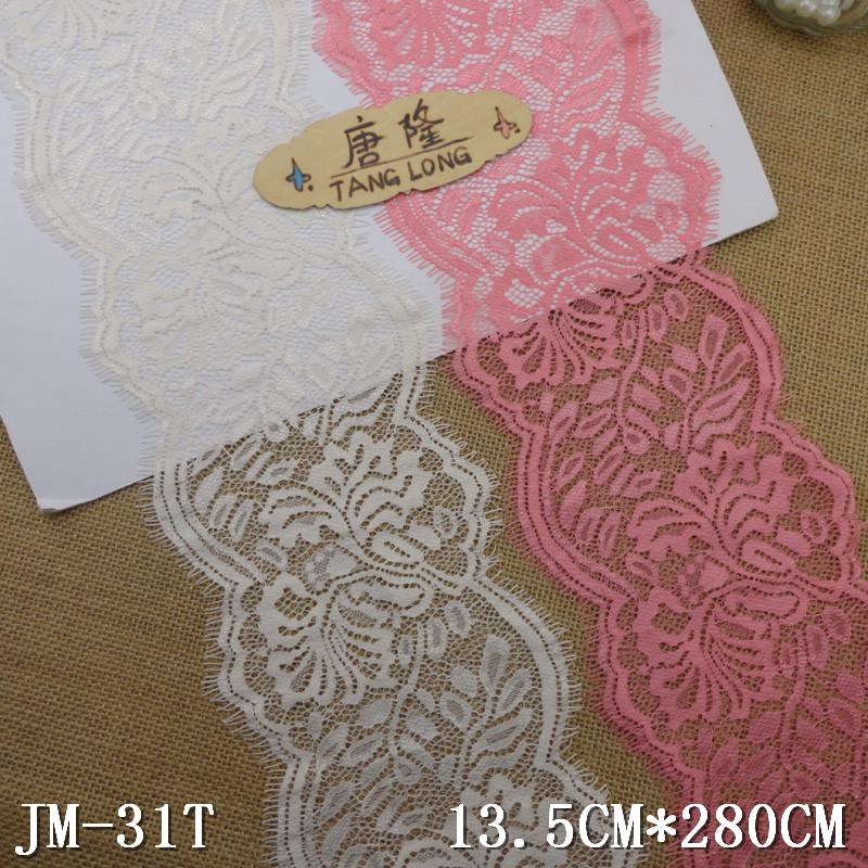 "13.5cm scalloped ivory eyelash lace trimming 5.3"" inch chantilly pick lace trim 13.5cm scalloped ivory eyelash lace trimming 5.3"