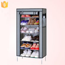 Portable Folding Non-woven Fabric Dustproof 6Tiers Hot Sale Shoe Rack with Cloth Cover