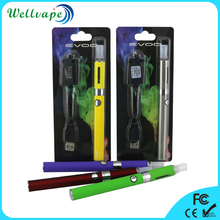 Hot selling top rank 650/900/1100mAh battery evod mt3 blister kit