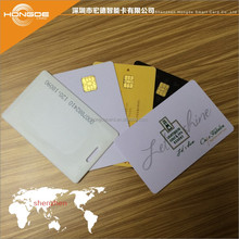 ISO7816 protocal hotel key access contact smart card SLE4442