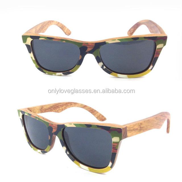 2016 custom new style camouflage wood sunglasses