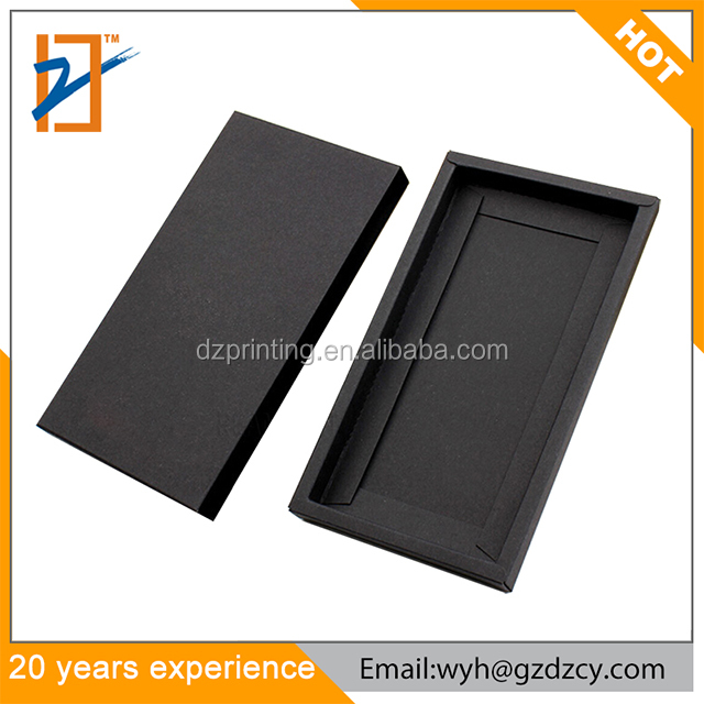 Wholesale Black Brown Kraft Paper Packaging Box Protective Mobile Phone Case For Iphone 6 7 Plus
