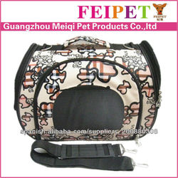 Nice fashionable floral designer pet carriers purse for small pet made in china