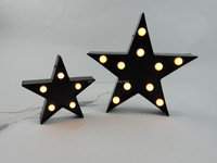 new plastic letter star with white plastic ball