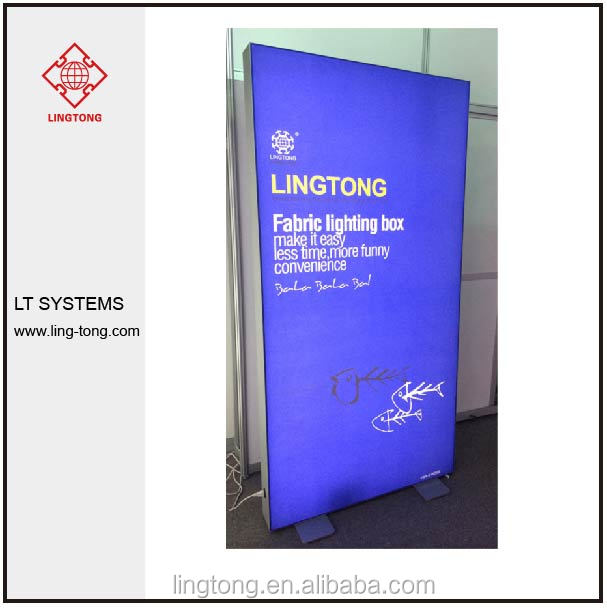aluminium light frame of Indoor LED Fabric light box for advertising