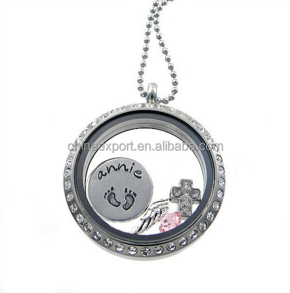 Fashion Custom Valentines Day Remembrance Locket With Name Charms