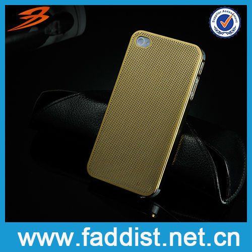 Brushed Aluminum for iphone 4 Gold Back Cover Ultra Thin Case
