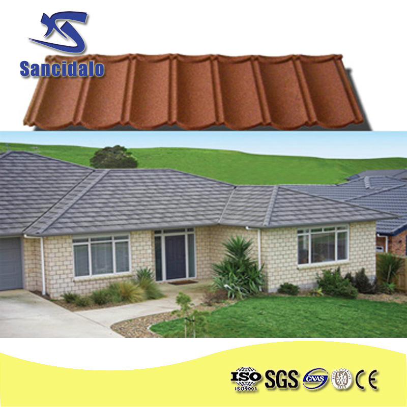 sancidalo brand metal building material cheap asphalt shingles/stone coated metal used metal roofing sale/colour stone coated