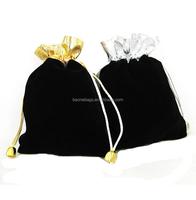 Black Velvet Drawstring Gift Jewelery Bags Pouches 10cmx10cm