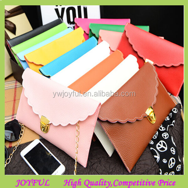 Various colors scalloped clutch bag