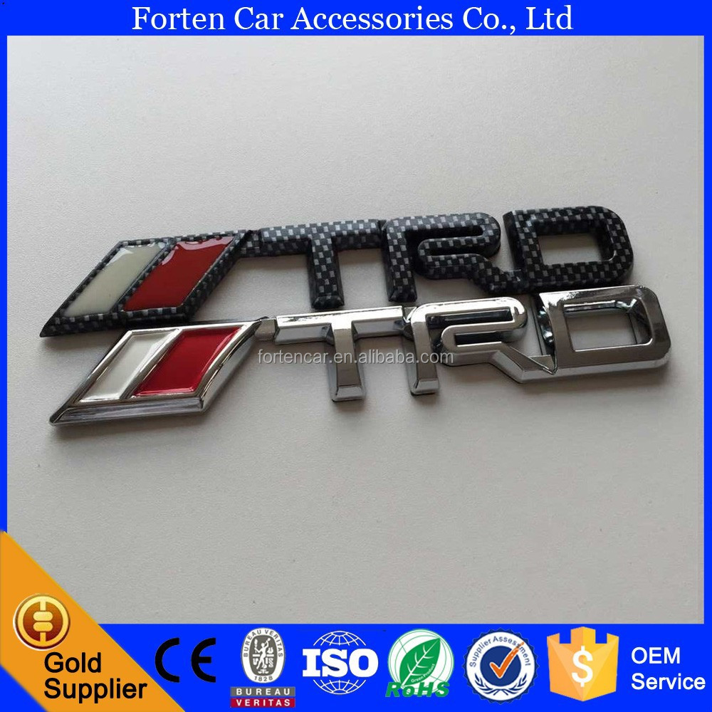 Custom Chrome 3D TRD Logo Parts Badge Car Letter ABS Sticker Emblem