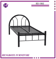 High quality metal frame children kids home furniture single size cheap platform bed dining room metal bed with cheap price