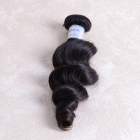 Factory export 100% unprocessed wholesale price 3 pcs 20inch Virgin malaysian hair loose wave