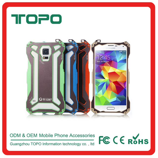 [TOPO]For Samsung Galaxy S5 Aluminum Metal Shockproof Waterproof Mobile Covers Case