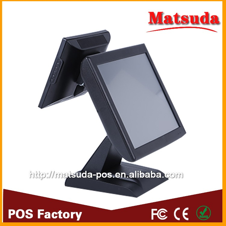 fanless dual core cpu true flat touch screen point of sale system,usb pos terminal