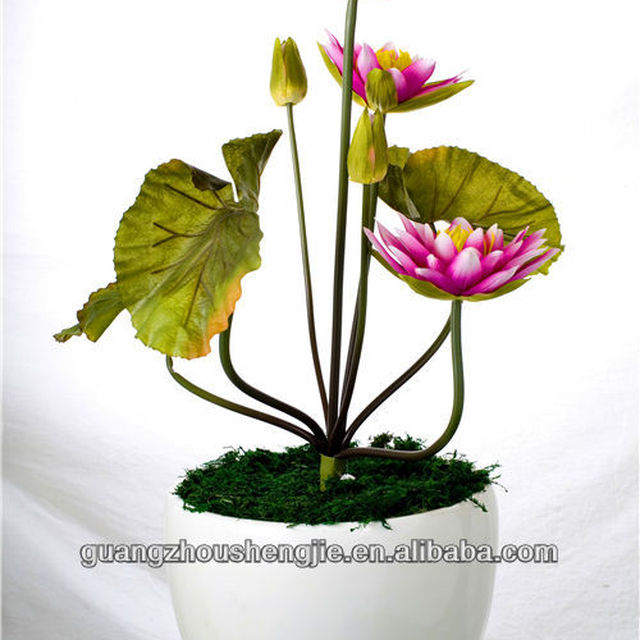 Wholesale beautiful water lily artificial water lily of whole plant