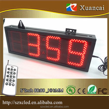 Remote control set +ON/OFF 88:88 or 88:88:88 digits Count down/UP Timer Digital Clock 7 Segment Bars LED Display
