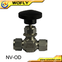 316L inlet 3000psi stainless steel gas needle valve