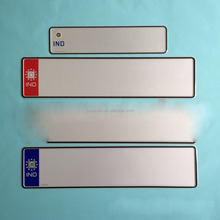 difference size sublimation aluminum license plate blank