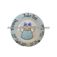 Round resin baby baptism souvenirs