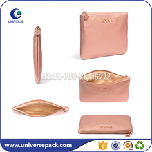 Customized Embossed Logo Pu Cosmetic Bag With Polyester Linging