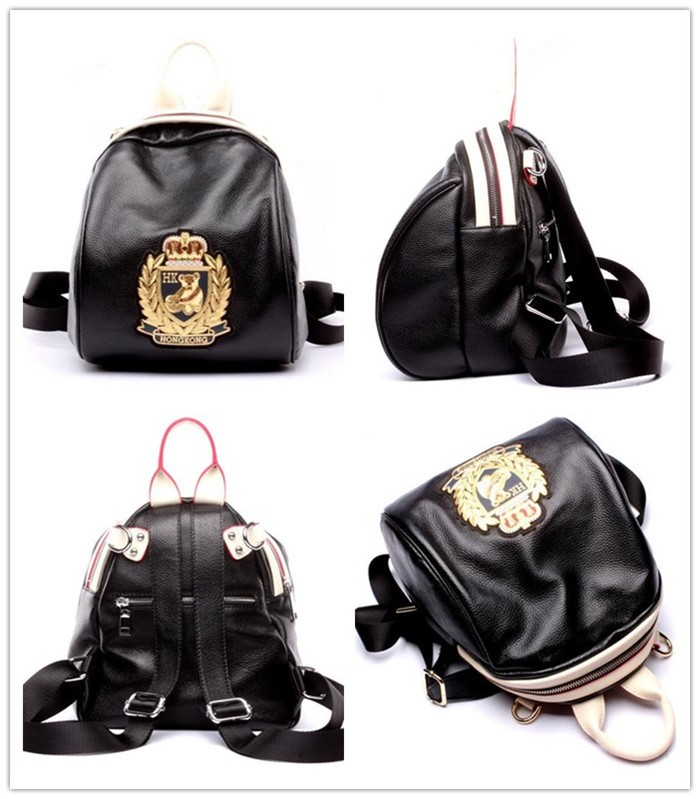 Wholesale real leather fashion girl backpack, Cute mini backpack bag for lady_5