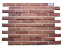 Polyurethane red brick panel, face bricks panel for wall cladding, fire resistant.