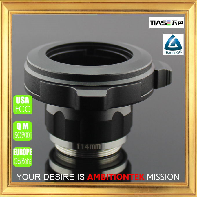 F14mm C/CS mount optical coupler for hdmi endoscope camera