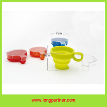 high quality chinese silicone folding cup , collapsible cup
