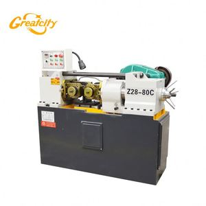 Full automatic thread rolling flat die portable rod threading machine