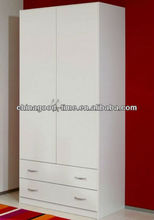 2 door kd melamine chipboard wardrobe