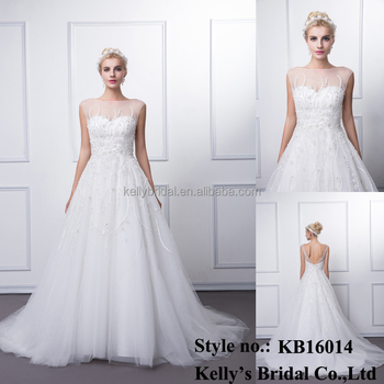 2015 latest design actual samples bridal draggle-tail beaded washable breathable wedding guest dress manufacturer bangkok