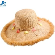 Jia Mian Fashion Girl Lady Beach Sun Foldable Wide Brim The Chastity Belt 10mm Straw Hat Led Country Hat