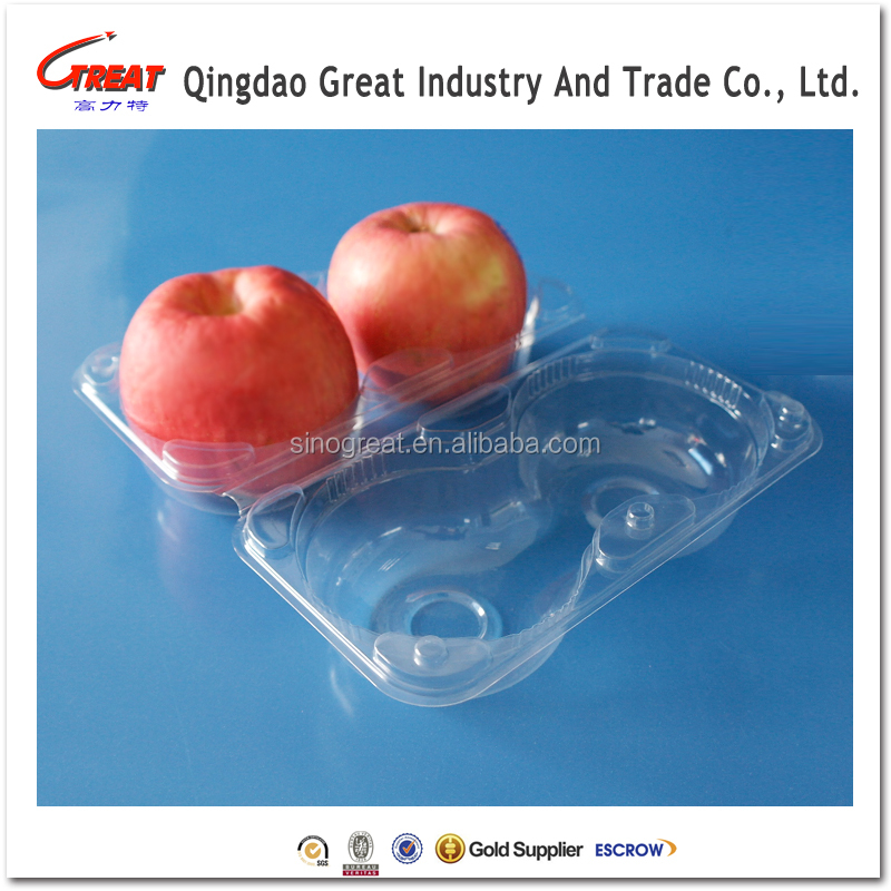Accept Costomer Design Fruit Apple Plastic Box Fruit packaging tray