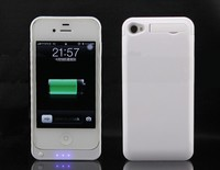 Ultra Slim 2300mAh Rechargeable Portable Backup External Battery Charger Charging Case Power Bank Cover for iPhone 4 4S 4G
