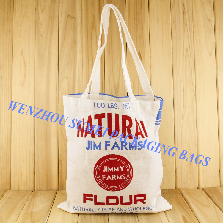 Custom recycled cheap printed plain eco cotton net shopping bags