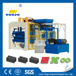 low price/cost saving power concrete interlocking QT12-15 brick machine