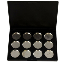 Makeup Cosmetic Empty 12 pans Aluminum Magnetic Eyeshadow Eye Shadow Palette