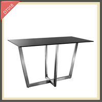 cream-colored glass top marble base folding dining table