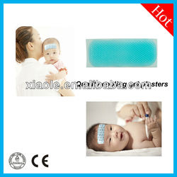 fever gel pad ,blue hydrogel/gel,large size 50*120mm for curing Adults&Kid headache