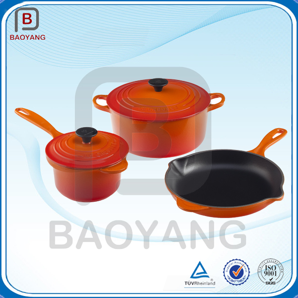 Enamel coating cast iron cooking cooking ware pot