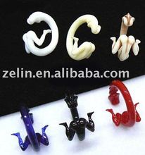 Acrylic penis design sexy ear expander ear plugs body jewelry